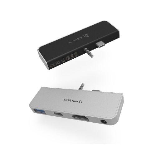 CASA Hub S4 USB−C 四合一 Microsoft Surface Go 集線器 黑銀