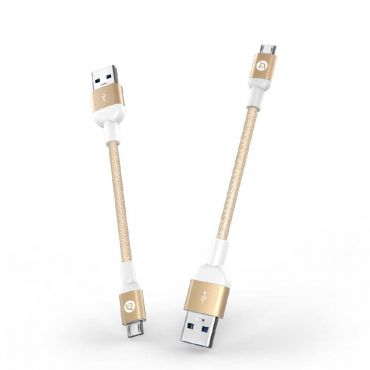 PeAk AMB13 Micro USB 金屬編織充電傳輸線 13cm